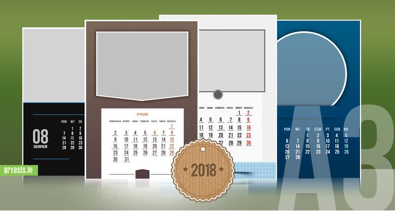 kalendarze 2018, kalendarz A3, kalendarium,kalendarz psd,fotokalendarz,foto-kalendarz,projekt kalendarza