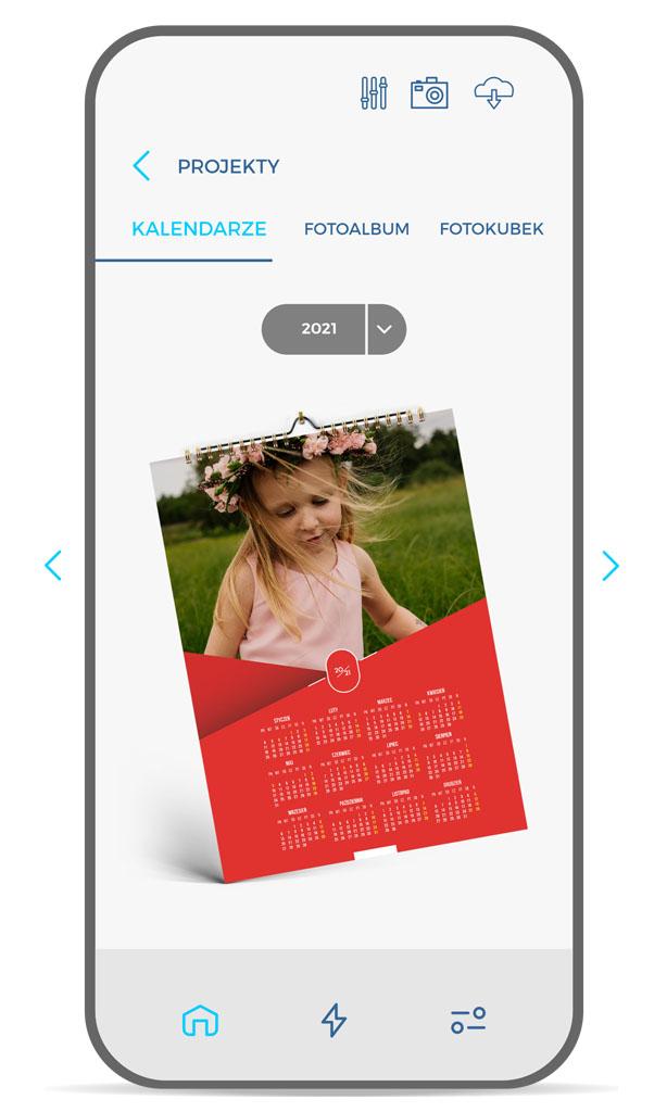 projekt kalendarza a4