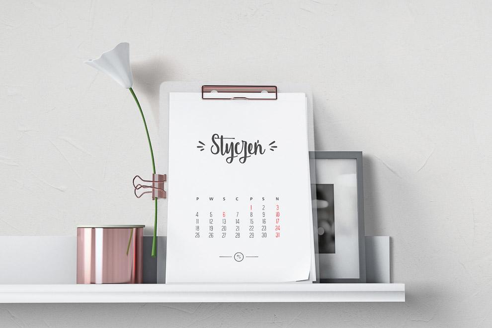 kalendarze do druku diy gotowe szablony