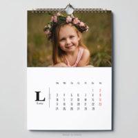 minimalistyczny fotokalendarz