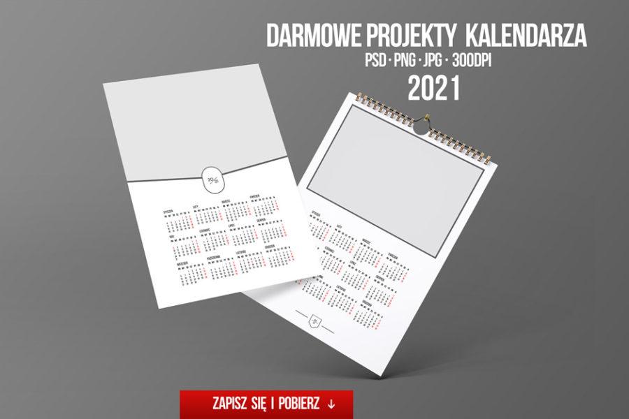 Darmowy foto kalendarz 2021 A4 ze zdjęciem – projekt do pobrania