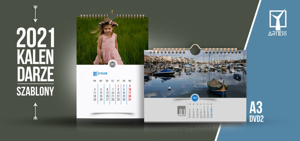 foto kalendarz na prezent A3 2021 projekty