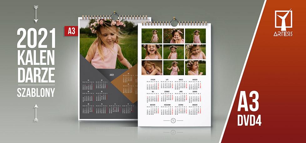 kalendarze Jednostronne A3