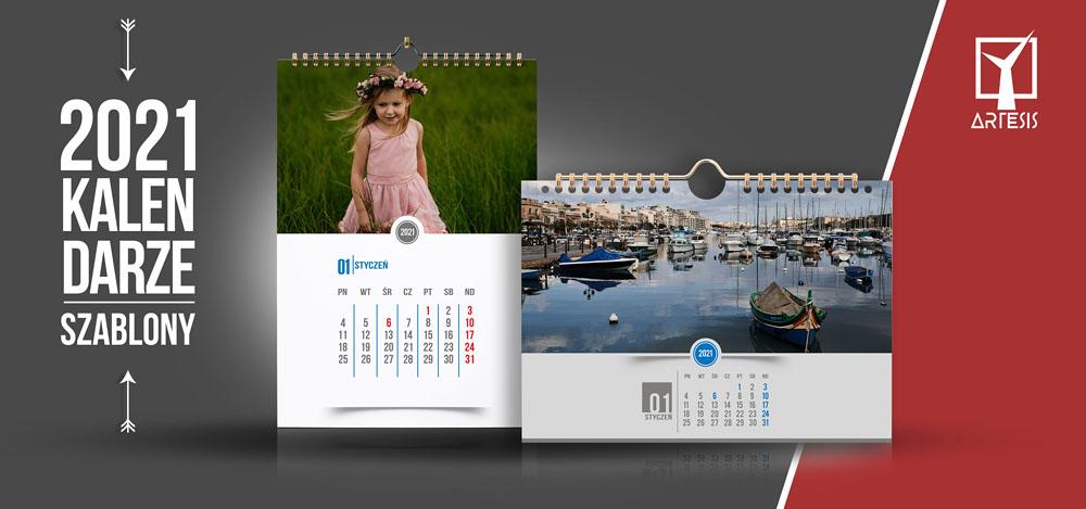 Kalendarze szablony A3 i projekty psd 2021