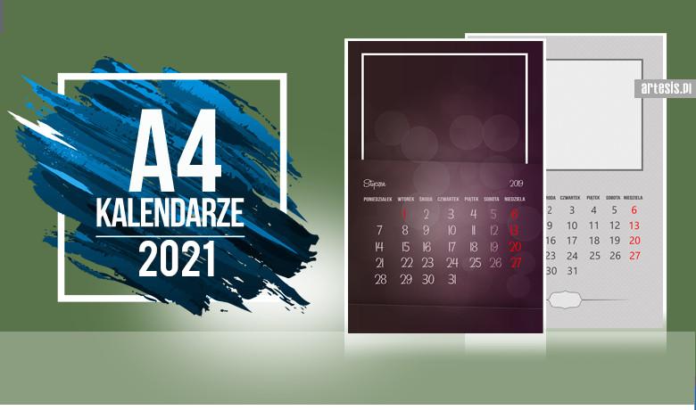fotokalendarz szablony 2021 prjekty do zdjęć
