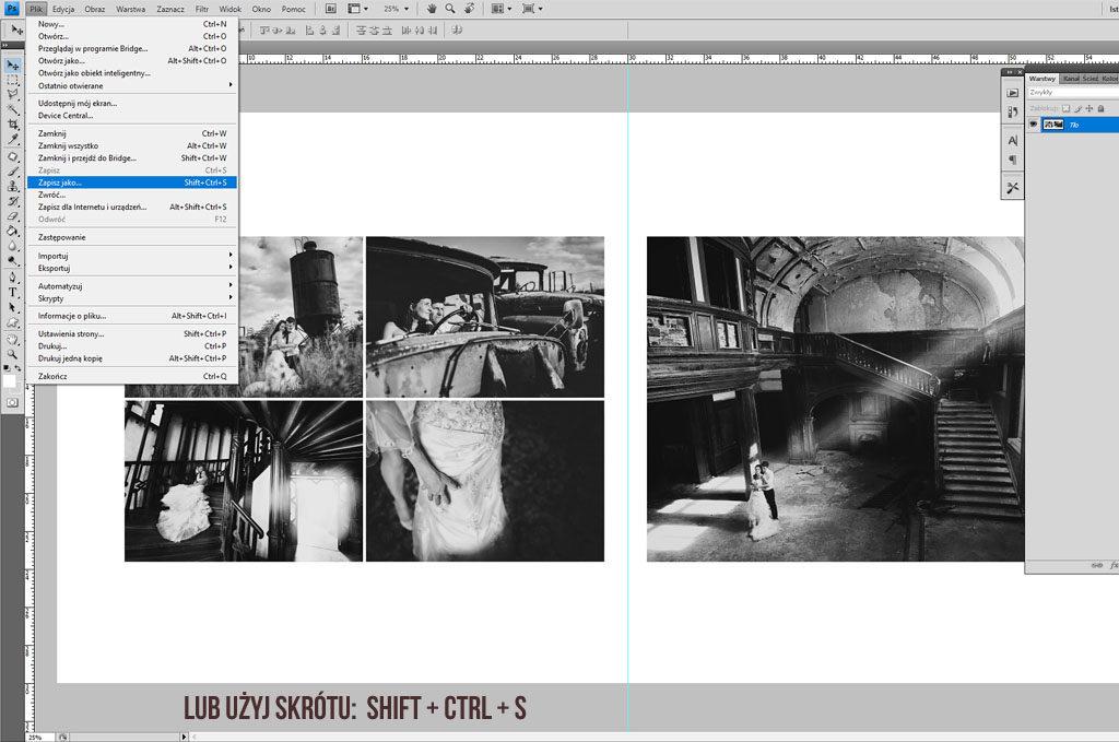 jak zapisać projekt w Photoshopie skrót
