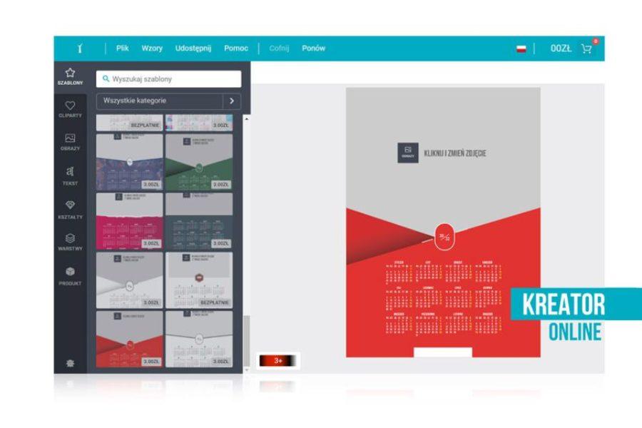 Kalendarz kreator online – fotokalendarz ze zdjęciem. Darmowy szablon