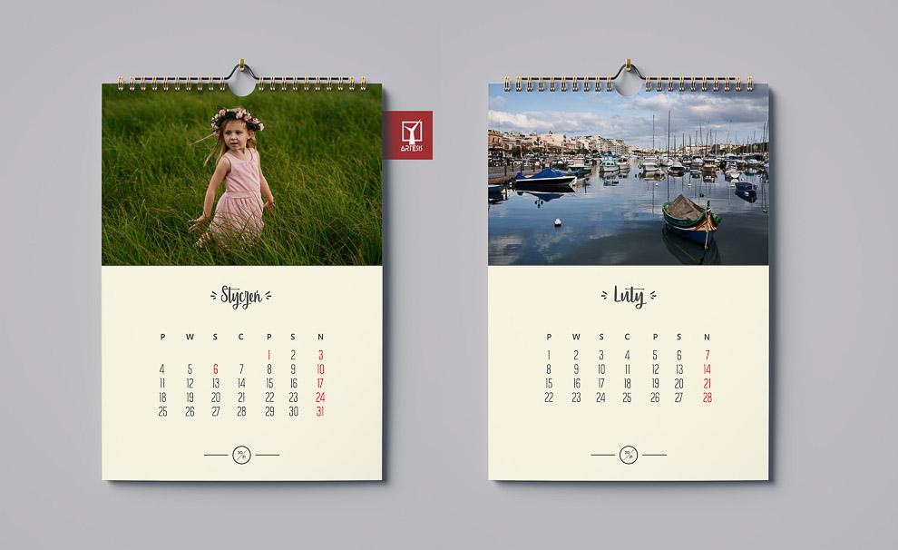 projektowanie kalendarza A3