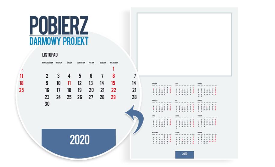 Darmowy projekt foto kalendarza na rok 2020 pobierz