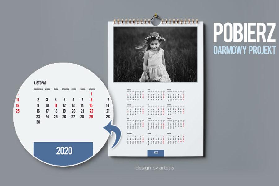 Darmowy projekt fotokalendarza 2020 – zrób go sam!