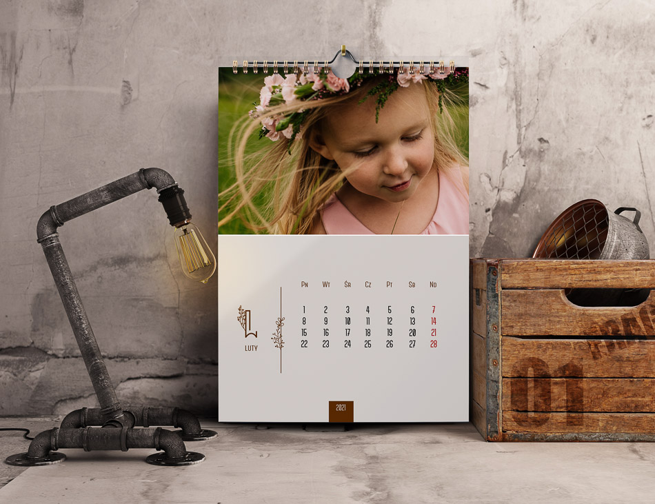 kalendarz ze zdjęciem 12 miesięcy