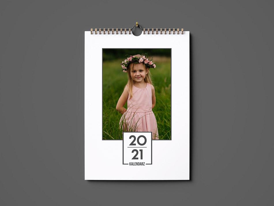 okładka kalendarz A3 ze zdjęciem pionowe