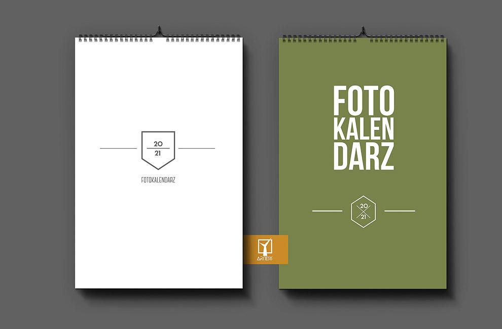 okładka foto kalendarz projekt minimalistyczny