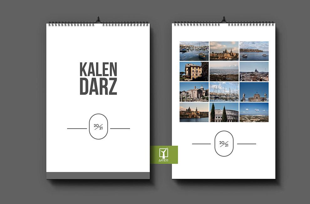szablony okładek kalendarz ze zdjęciami projekt