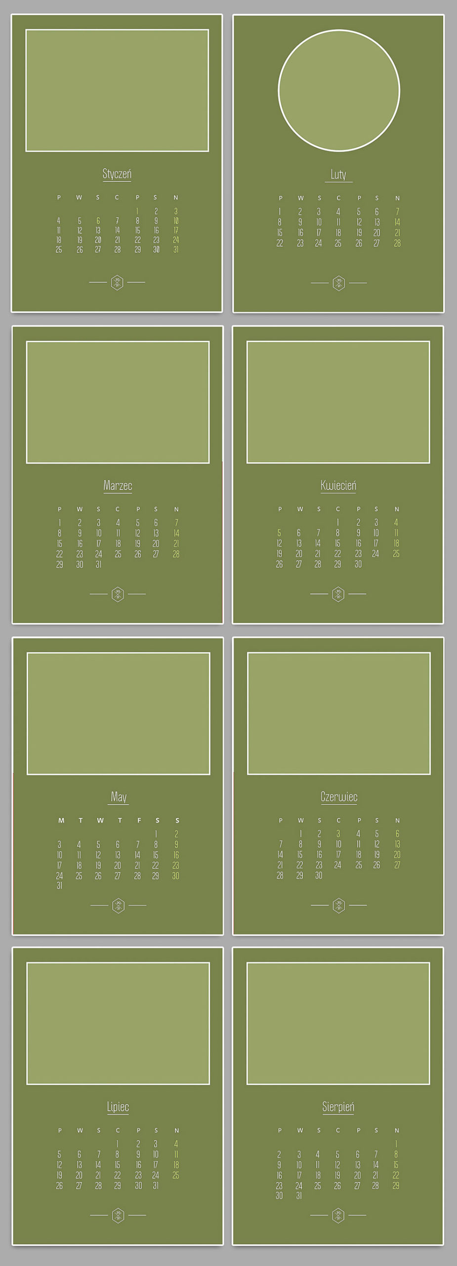foto kalendarz szablony kalendarium 2021 projekty