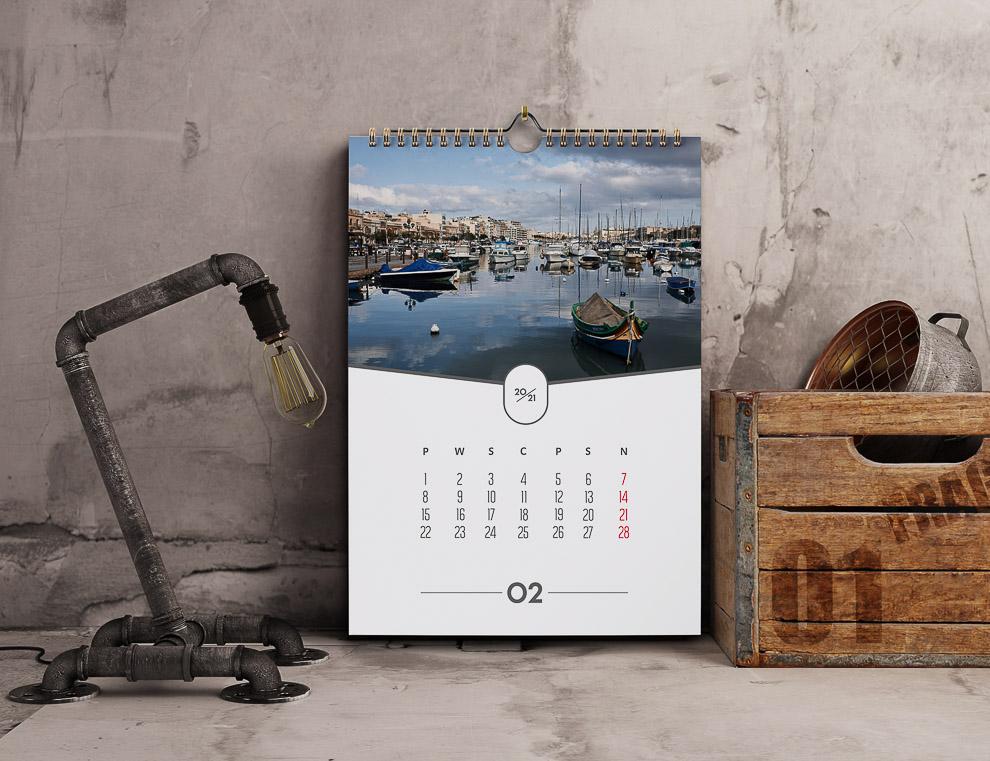 kalendarz-ze-zdjeciem 12 miesięcy