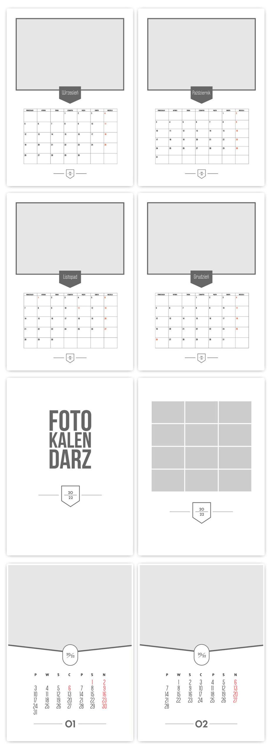 Foto Kalendarze 2022 Projekty Psd Gotowe Szablony A3