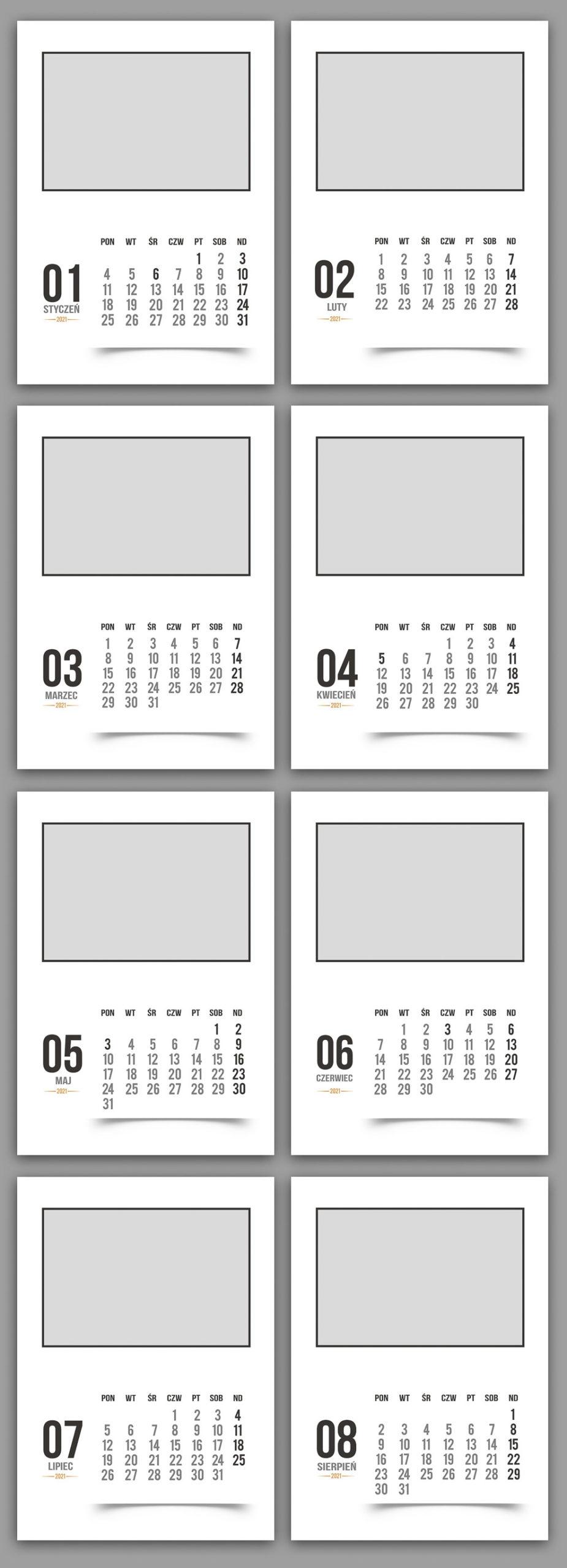 fotokalendarz z 12 zdjęciami
