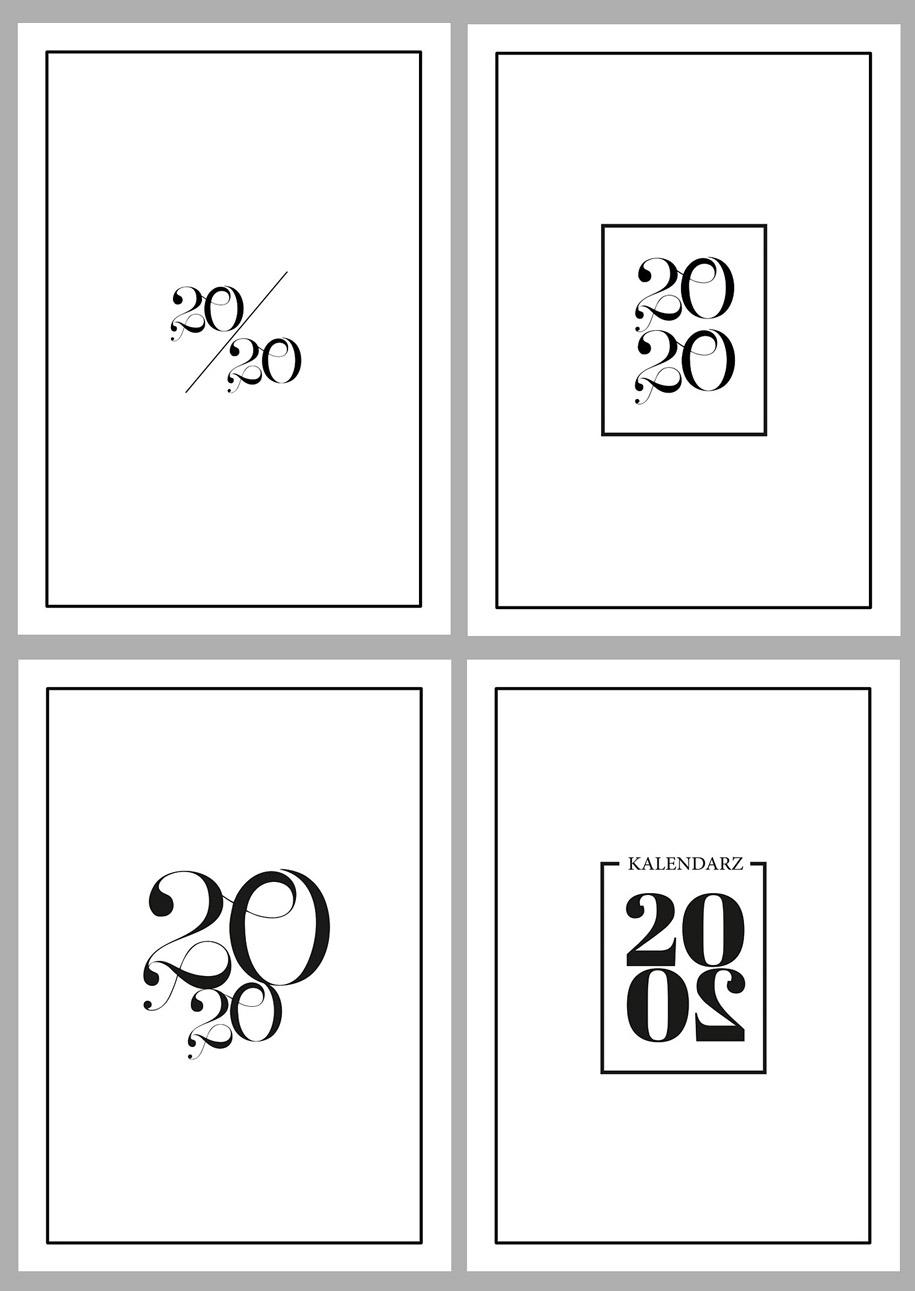 okładki kalendarze