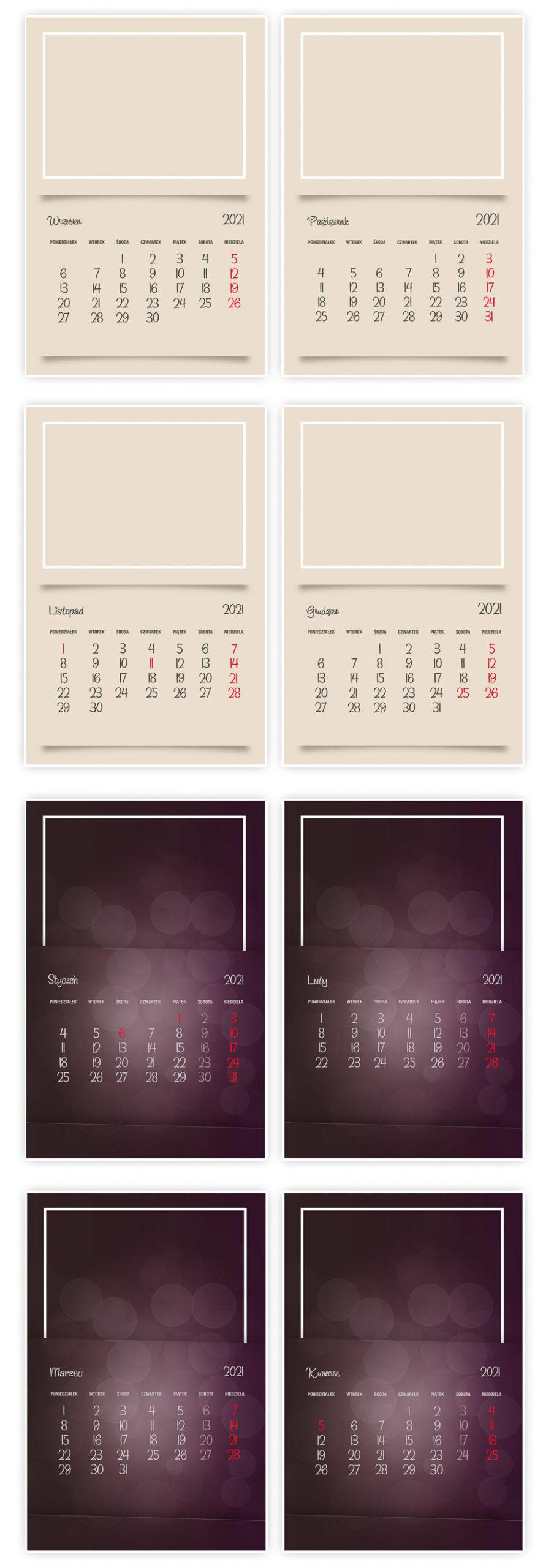 Foto-kalendarz biurkowy 2021