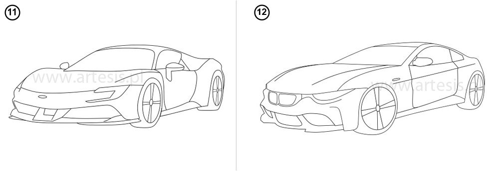 Kolorowanki pdf do wydrukowania auta wyścigowe bmw