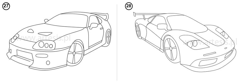 Kolorowanki pdf do wydrukowania auta wyścigowe