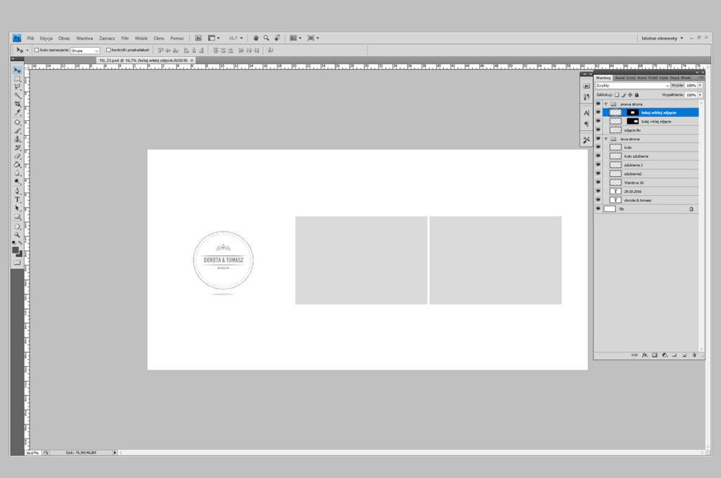 Jak zaprojektować fotoksiążkę fotoalbum w programie Photoshop