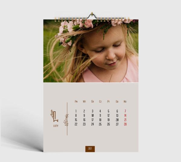 foto kalendarz szablon