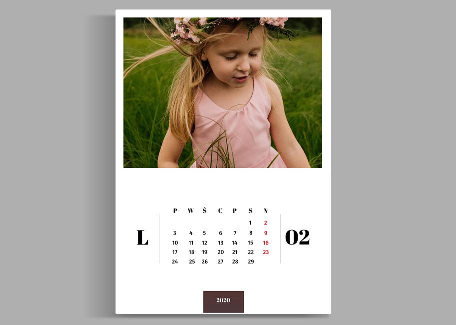 foto kalendarz dla dzieci ze zdjęć