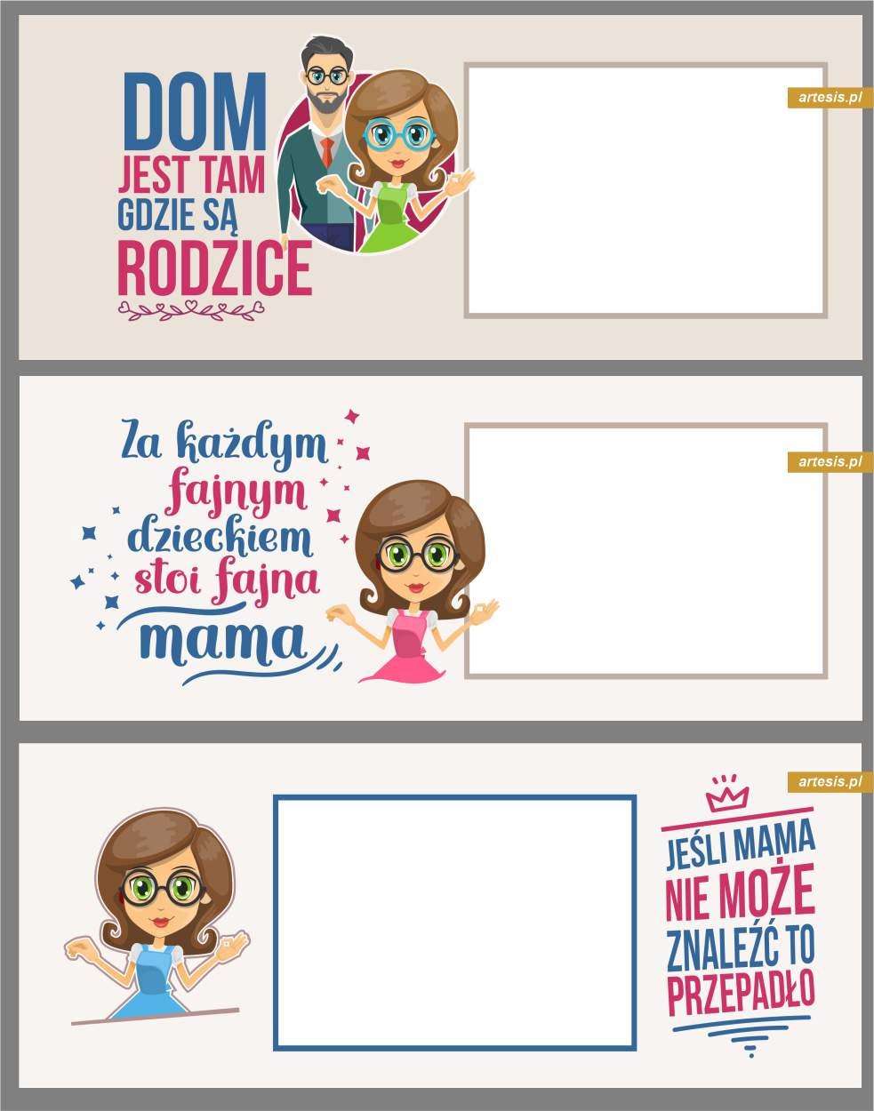 Projekty na Kubki Dzień Dziecka dla mama tata projekty